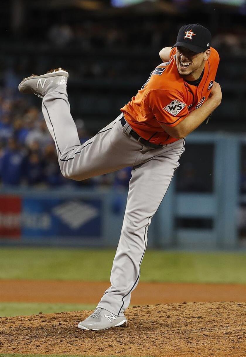 Charlie Morton, abridor de los Astros de Houston. EFE/Archivo