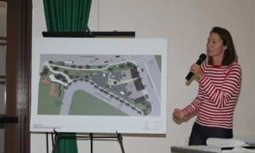 """Jasimin Faraone Mennella, a mother of three and resident opposed to the center, said she has """"hard feelings"""" about the project, which would remove a stop sign in front of her home. """"A lot of people are speeding up from La Jolla Shores,"""" she said. """"I call this an accident waiting to happen and this really scares me."""" Pat Sherman Photos"""