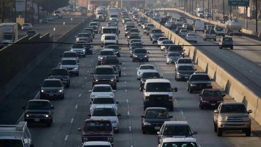 Traffic on the 5 Freeway