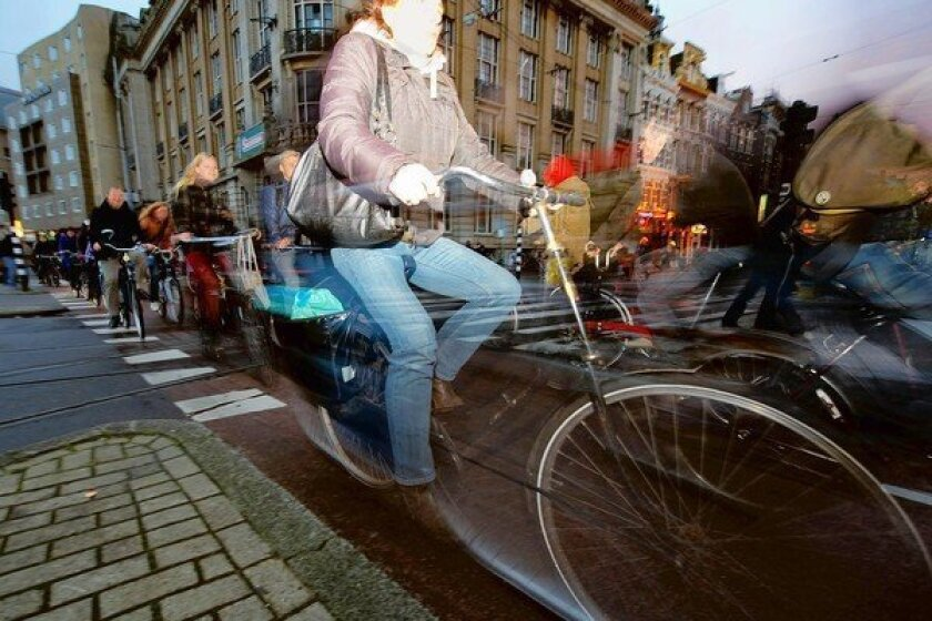 A spin through a world where bicycles rule streets