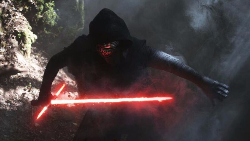 """Adam Driver in """"Star Wars: The Force Awakens."""" (Photo courtesy Lucasfilm/TNS) ** OUTS - ELSENT, FPG,"""