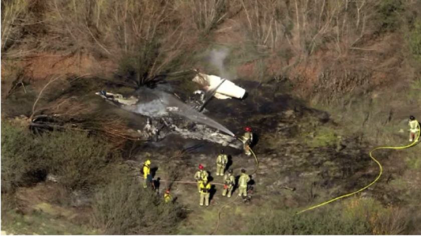 Fiery plane crash in Corona prompts airport closure