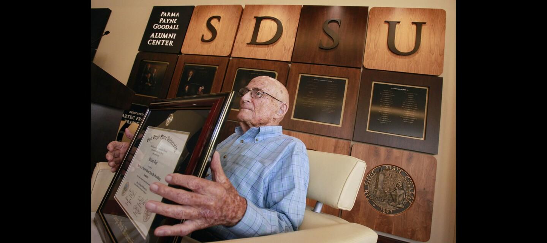 105-year-old SDSU graduate finally gets his diploma
