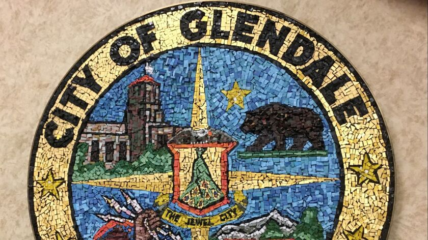 Glendale City Seal. Photographed on January 24, 2017. (Photo by Mark Kellam)
