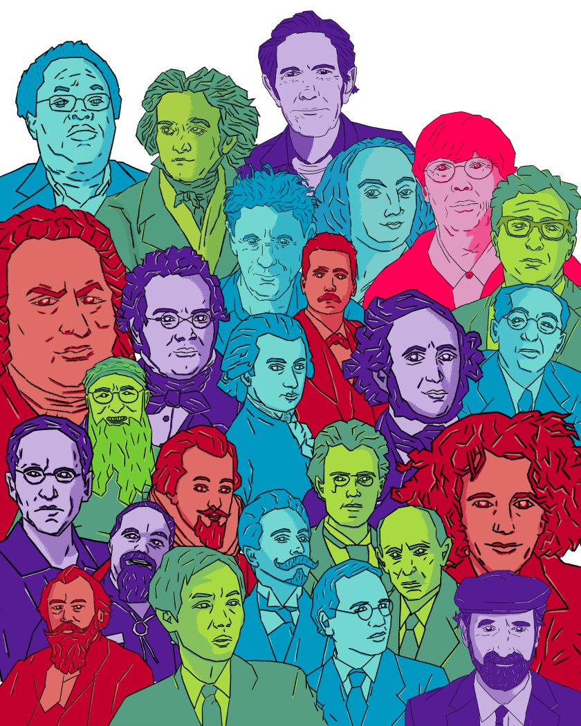 """The 25 composers featured in """"How to Listen."""""""