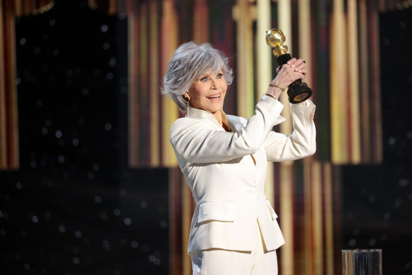 Actress and activist Jane Fonda received the Cecil B. DeMille Award at the 2021 Golden Globes.