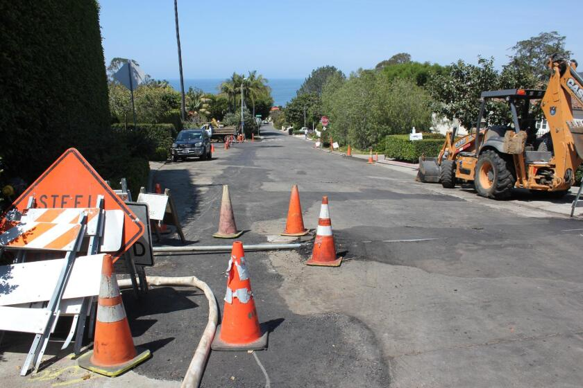 Residents on the 7600 block of Hillside Drive said they are weary from withstanding constant construction projects, as revealed by all the patched concrete along the street.