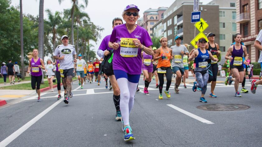 At age 92, and again at 94, Harriette Thompson set running records in San Diego.