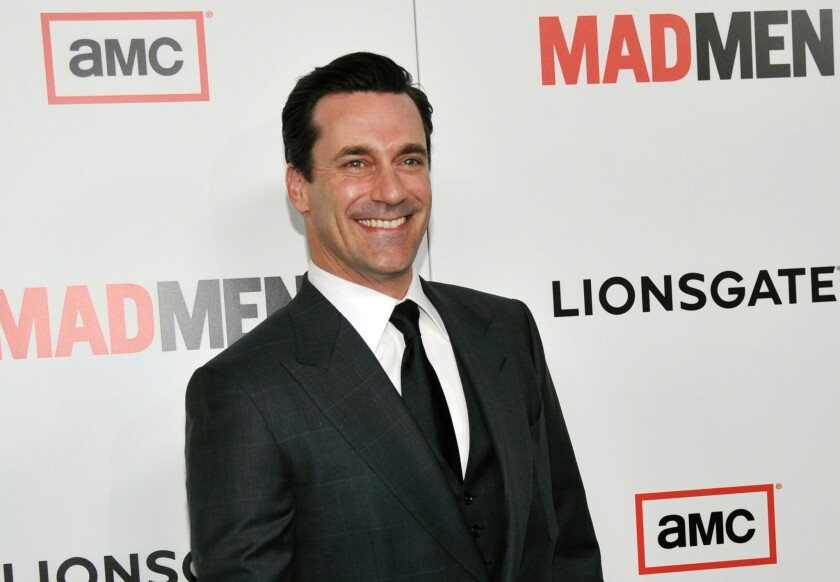 """""""Mad Men"""" star Jon Hamm at the season six premiere of the drama series at the Directors Guild of America in Los Angeles."""