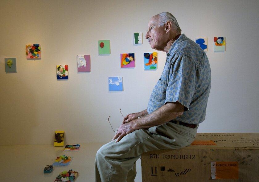 Artist Richard Allen Morris takes a brief break at the R.B. Stevenson Gallery in La Jolla.