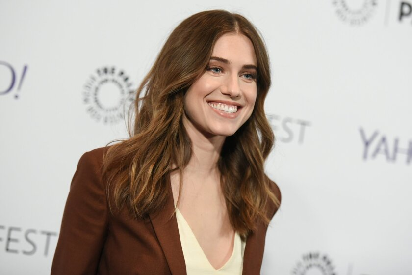 "FILE - In this Sunday, March 8, 2015, file photo, Allison Williams arrives at the 32nd Annual Paleyfest: ""Girls,"" held at The Dolby Theatre in Los Angeles. Williams and CollegeHumor co-founder Ricky Van Veen were wed at a private Wyoming ranch ceremony, on Saturday, Sept. 19, 2015. The ""Girls"" star and daughter of NBC's Brian Williams posted a picture of herself and Van Veen from the wedding on Instagram. She noted that her gown was by Oscar de la Renta. (Photo by Richard Shotwell/Invision/AP, File)"