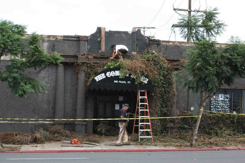 Scenery is changing along at The Comedy Store on Pearl Street in La Jolla. Photo: Dave Schwab