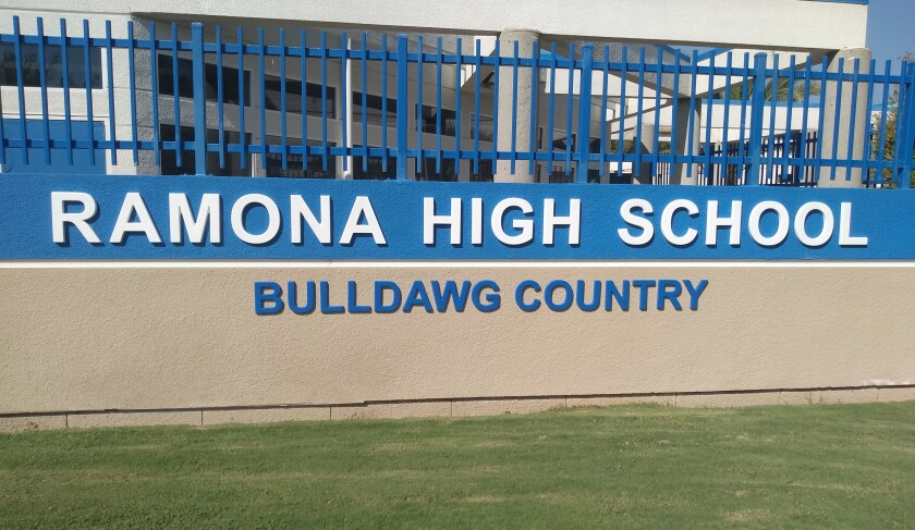 Ramona High School is preparing to reopen the campus to students attending in-person classes starting Tuesday, Oct. 20.