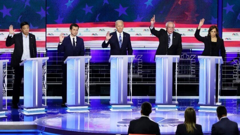 BESTPIX - Democratic Presidential Candidates Participate In First Debate Of 2020 Election Over Two Nights