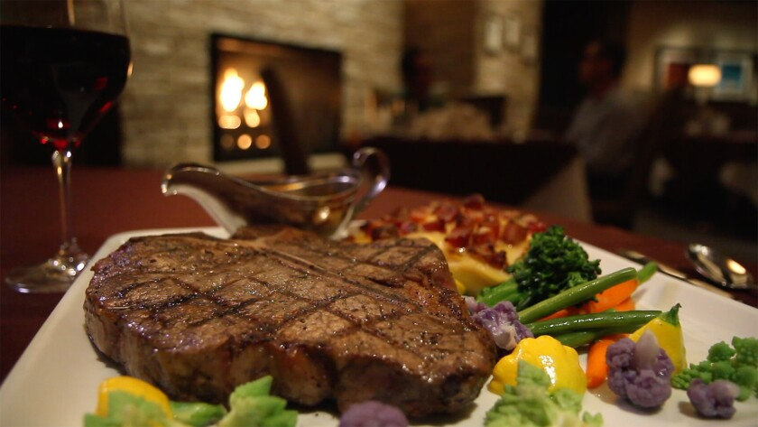 Steaks like this Porterhouse are always a winning bet at Barona Oaks Steakhouse.
