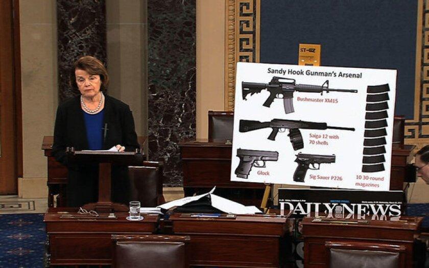 Senate votes down Feinstein's assault weapons ban