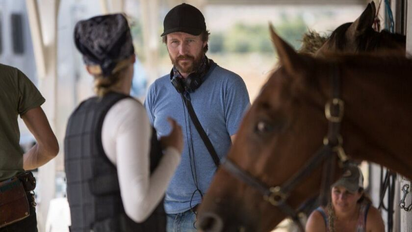 """Andrew Haigh on the set of """"LEAN ON PETE"""" with Chloë Sevigny"""