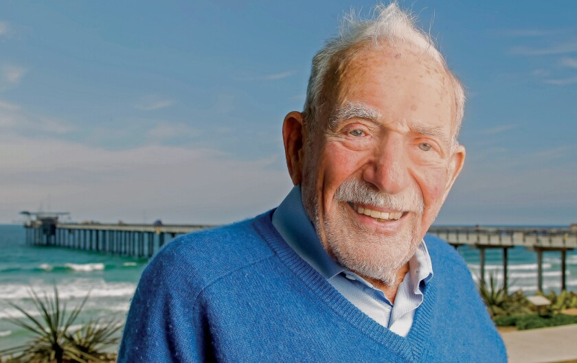 World-famous oceanographer and La Jollan Walter Munk died in February 2019 at age 101. His research about the nature of winds, waves and currents at Scripps Institution of Oceanography earned him the nickname the 'Einstein of the Oceans.'