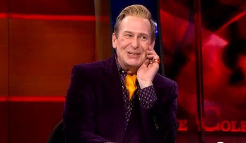 "Scott Thompson plays Buddy Cole on ""The Colbert Report."""