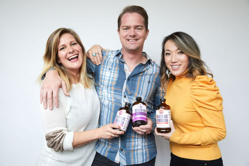 The three founders of Health-Ade Kombucha.