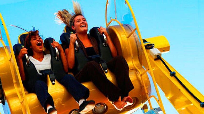 Control Freak thrill ride at Belmont Park.