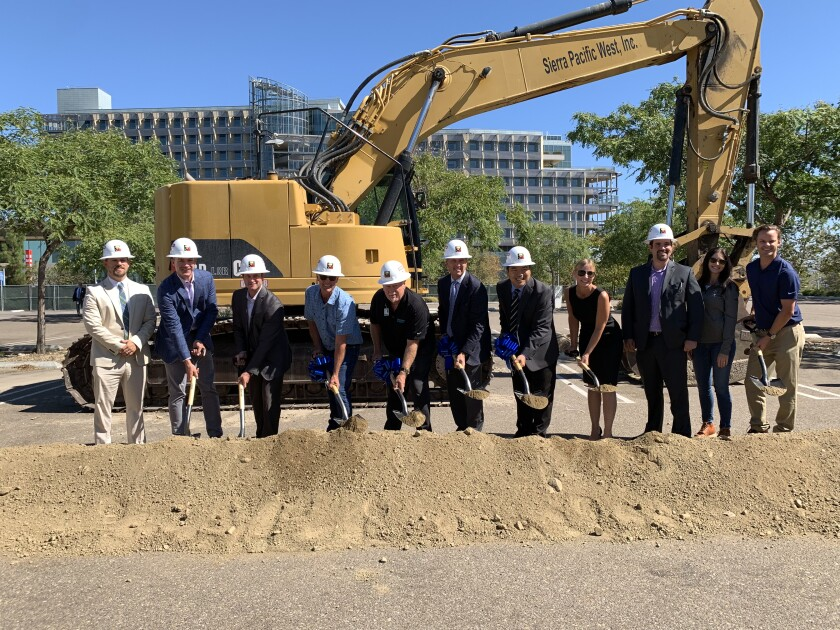 Representatives from Taylor Design joined Kindred Healthcare, Pacific Medical Buildings, Palomar Health, and McCarthy Building Companies recently to celebrate the groundbreaking of an acute inpatient rehabilitation hospital on the campus of Palomar Medical Center in Escondido.