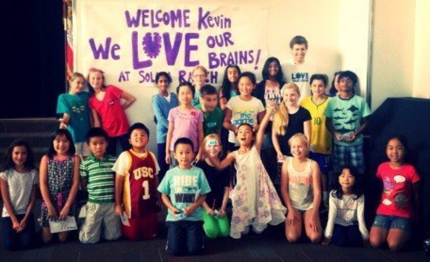 Solana Ranch Elementary students enjoyed a visit from Kevin Pearce.