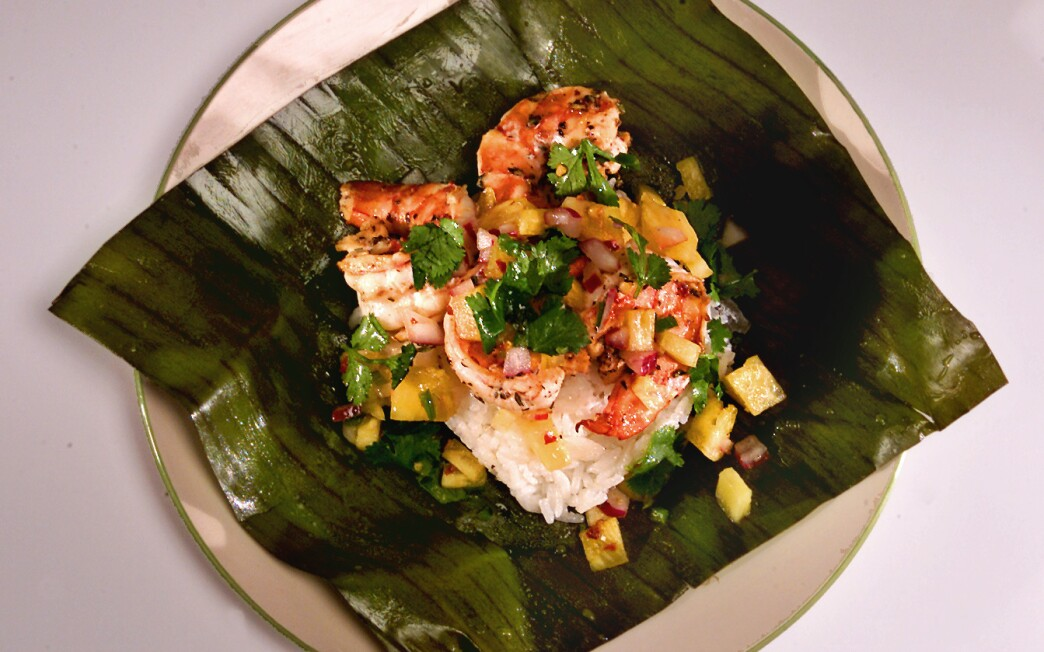 Backyard Barbecue Shrimp Tamales With Pineapple Pico de Gallo