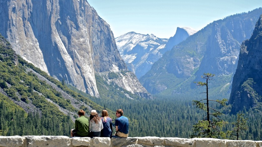 If you enter the park from the south, Tunnel View is the first broad view you get of Yosemite National Park's Yosemite Valley.
