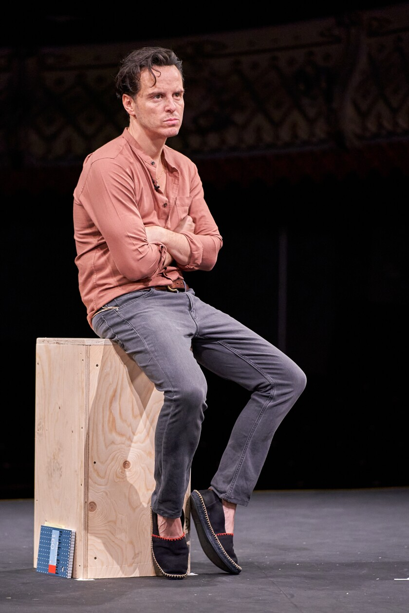 """Andrew Scott in the """"Old Vic: In Camera"""" presentation of """"Three Kings."""""""