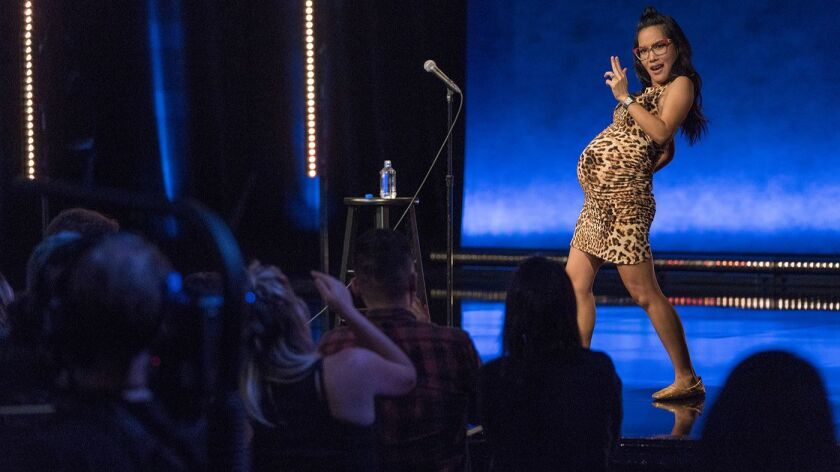 """Ali Wong in """"Ali Wong: Hard Knock Wife"""" stand-up comedy special. Photo Credit: Ken Woroner"""