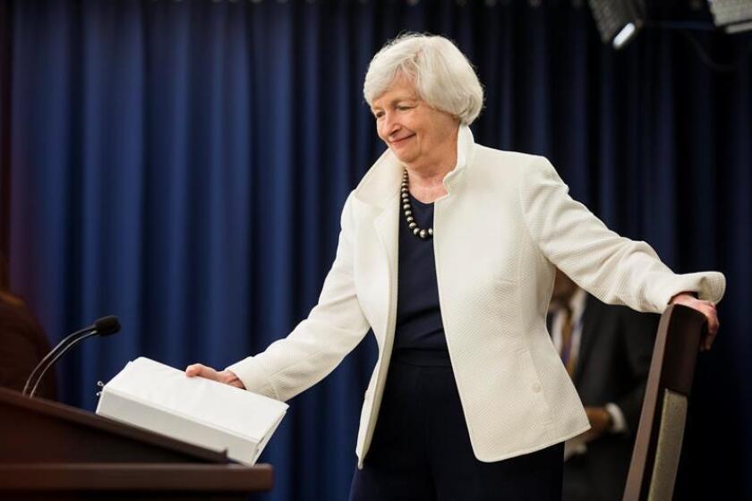 La directora de la Reserva Federal (Fed), Janet Yellen. EFE/ARCHIVO