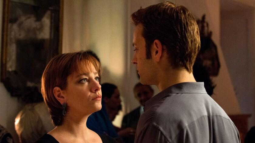 """Giovanna Mezzogiorno, left, and Alessandro Borghi in the film """"Naples in Veils."""""""
