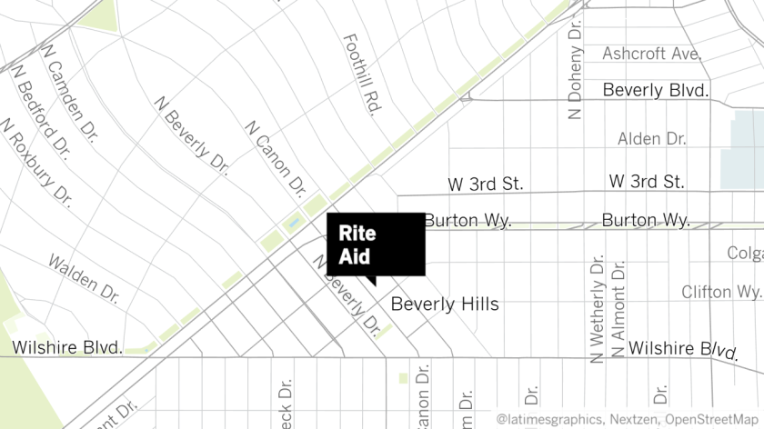 Robbery attempt at Rite Aid in Beverly Hills