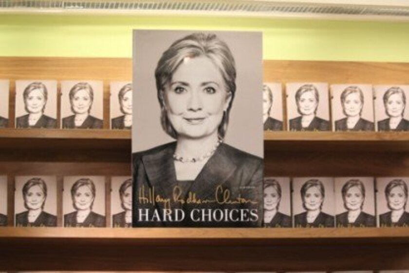 Hillary Clinton came to La Jolla on June 25 to sign copies of her new book, 'Hard Choices,' at Warwick's Bookstore.  Pat Sherman photo