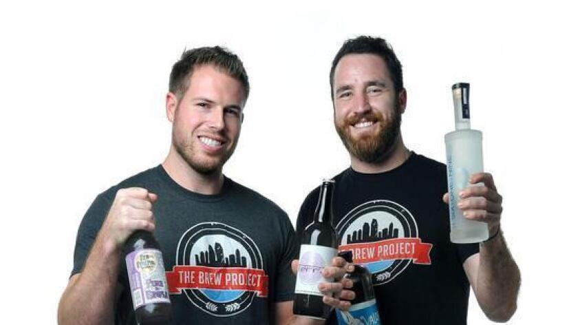 Beau Schmitt (left) and Mike Sill are co-owners of The Brew Project in Hillcrest.
