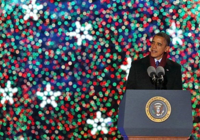 Obama's gift to pay frozen federal workers: Take Christmas Eve off