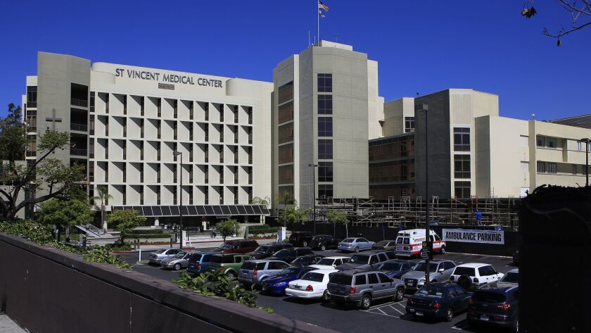 St. Vincent Medical Center in Los Angeles is one of six California hospitals owned by Verity Health System.