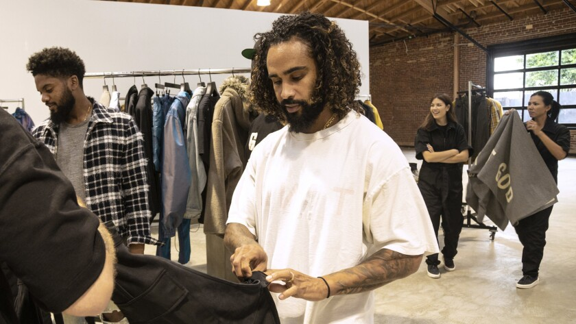 LOS ANGELES, CA - SEPTEMBER 05, 2018 - Jerry Lorenzo, Ct, creative director of fashion line Fear of