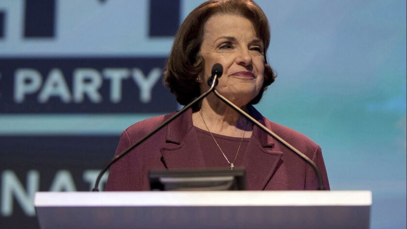 Far ahead in polls, Feinstein is in no hurry to campaign during August recess