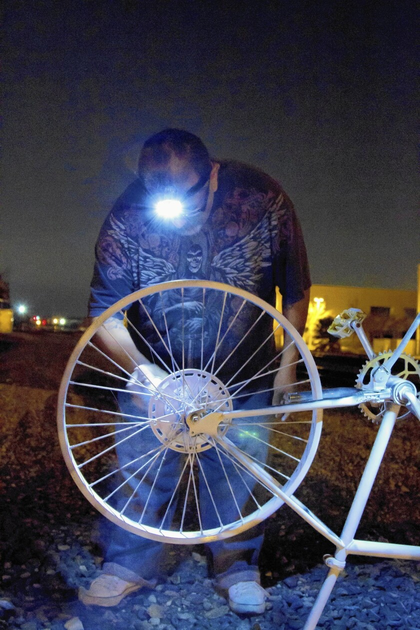 Uptick in bicyclist deaths keeps Ghost Bike volunteers busy