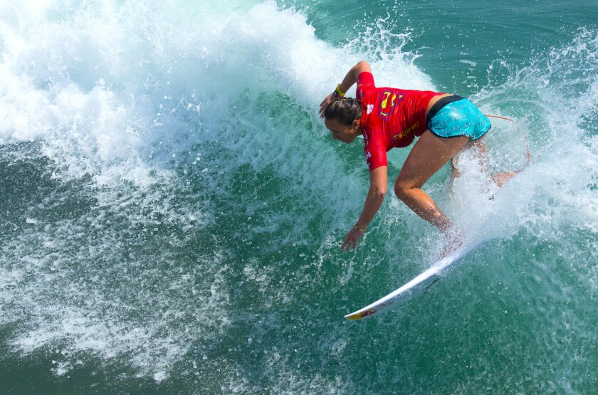 Olympic gold medalist surfer Carissa Moore is expected to compete at the Super Girl Surf Pro.