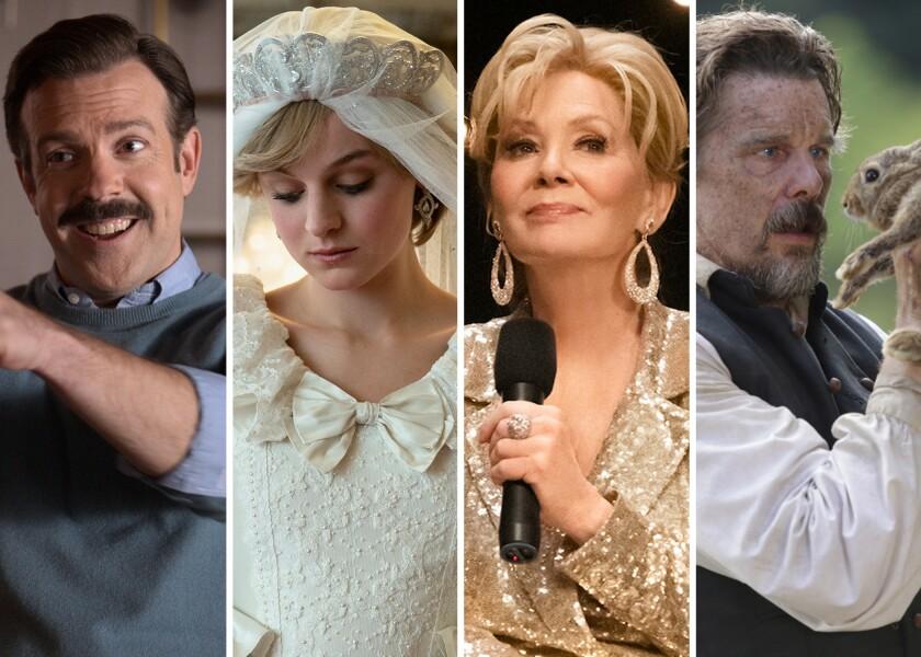 "Jason Sudeikis (""Ted Lasso""), Emma Corrin (""The Crown""); Jean Smart (""Hacks"") and Ethan Hawke (""The Good Lord Bird"")."