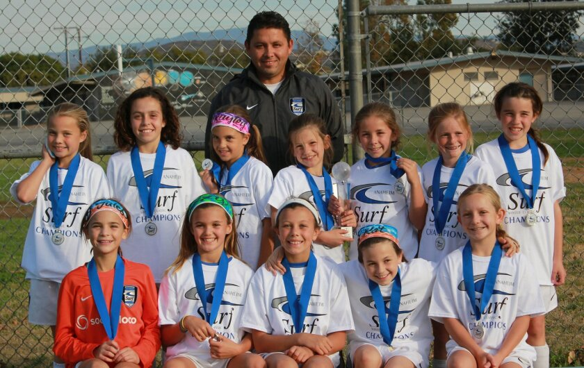 Congratulations to Coach Danny Madrigal and the San Diego Surf GU10 Madrigal Team who took first place in their flight at the Anaheim Surf Winter Classic over the Dec. 13-14 weekend.