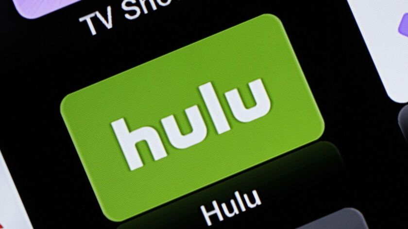 FILE- This June 24, 2015, file photo shows the Hulu Apple TV app icon in South Orange, N.J. There ar