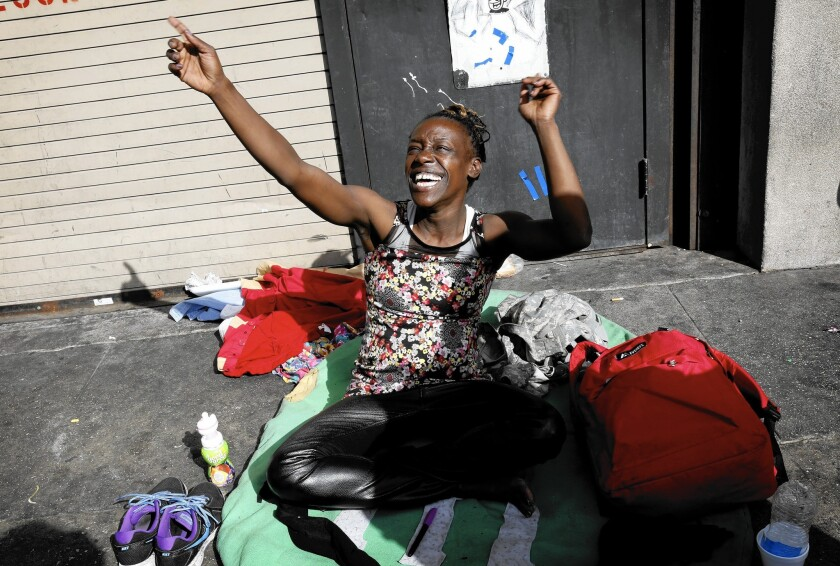 Live music adds to the Thanksgiving festivity on skid row