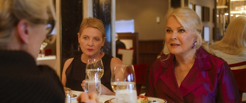 "Dianne Wiest listens in as Candice Bergen faces off with Meryl Streep in ""Let Them All Talk."""