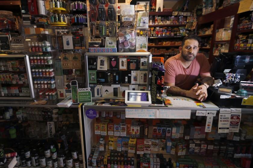 Jacob Grair, co-owner of Ace Smoke Shop in Altadena