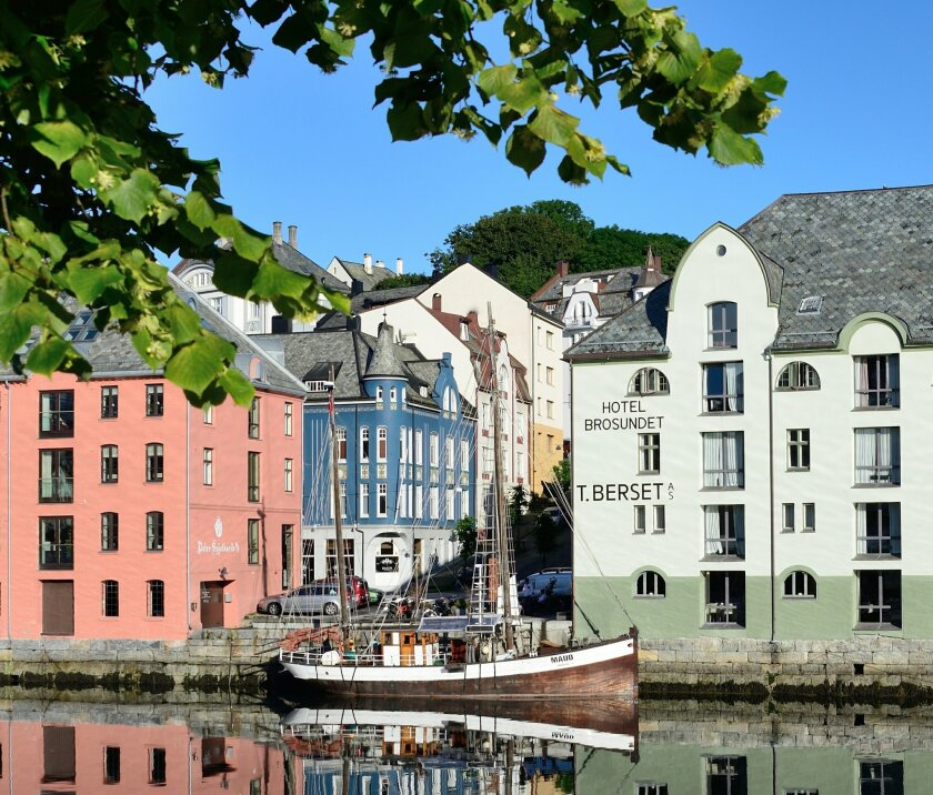 The coastal village of Alesund, Norway, is adorned with the most concentrated collection of art nouveau architecture in the world.