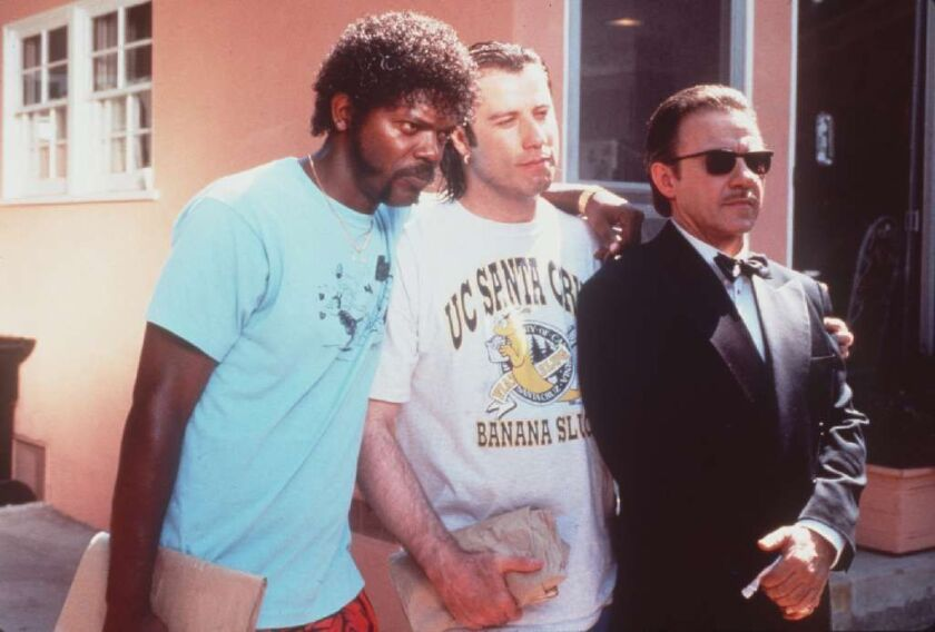 "Samuel Jackson, left, John Travolta and Harvey Keitel in ""Pulp Fiction"" (1994)"